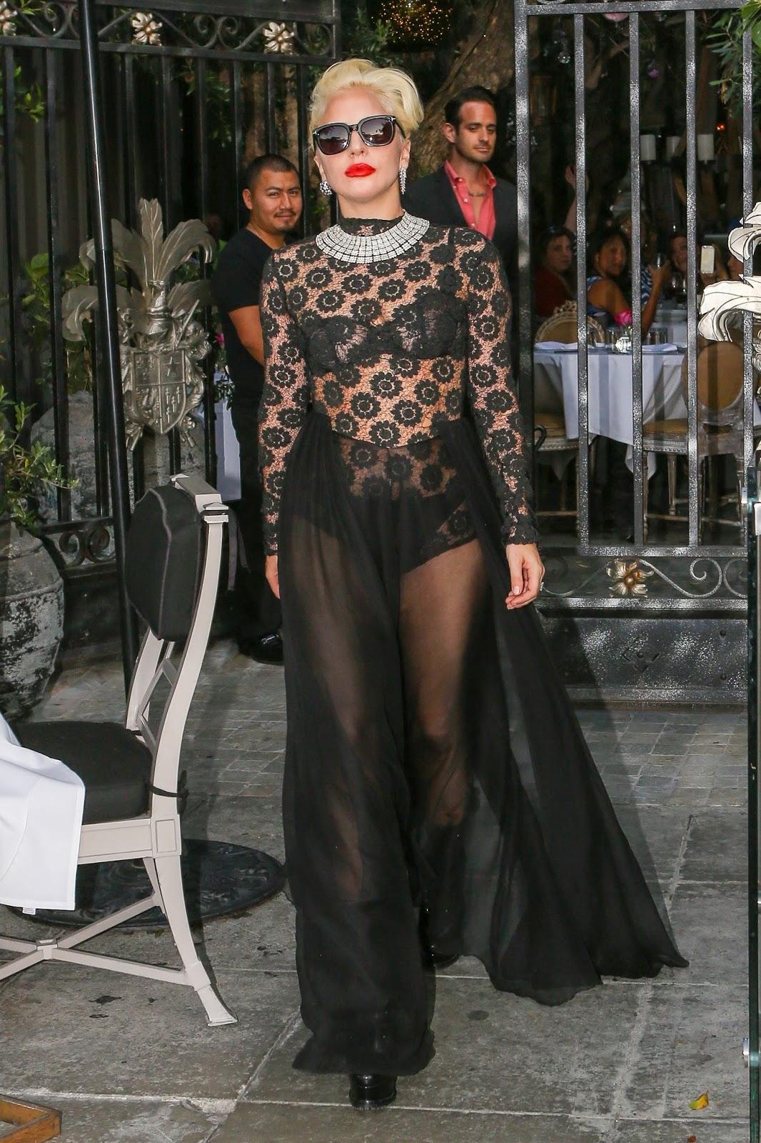 Lady Gaga Latest Transparency Short Dress Photos