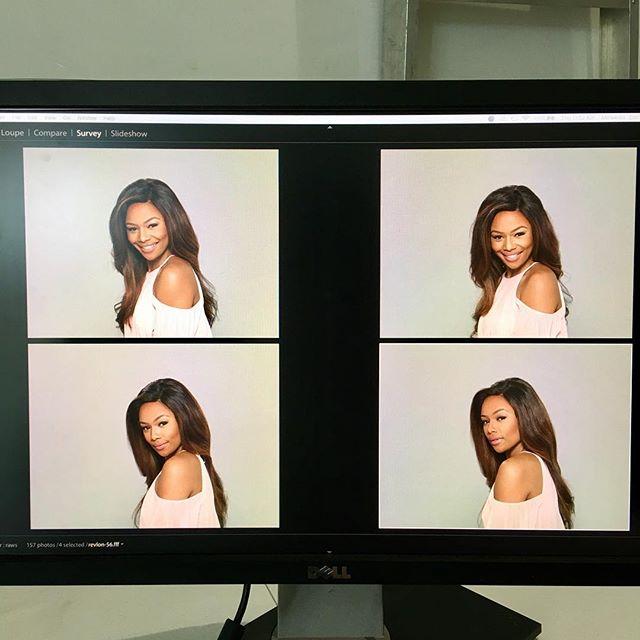 .....On set.... new @revlonsa campaign loading.... Sparkle, shine! 😍❤🙏🏽 #LoveIsOn #ChooseLove #RevlonXBonang #Revlon #Set #BehindTheScenes
