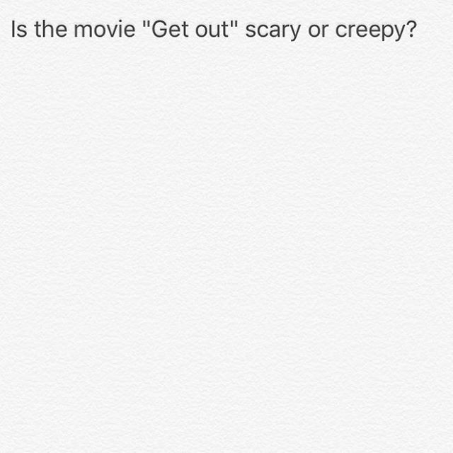 From the movie preview it looks a little strange. 🤔 I don't do horror movies.