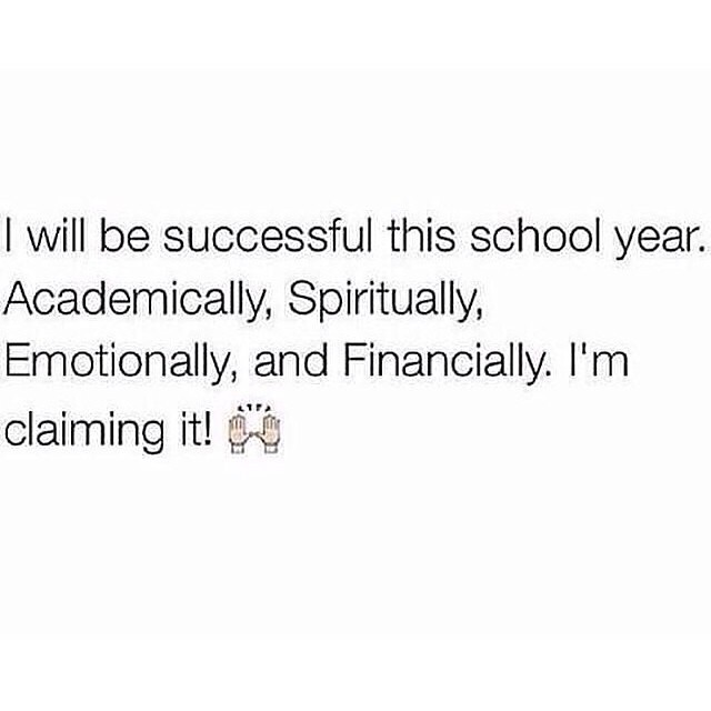 In Jesus name I claim it!! 📚🙏 Aiming for all A's this year. Wishing all of my college students a successful school year ✊