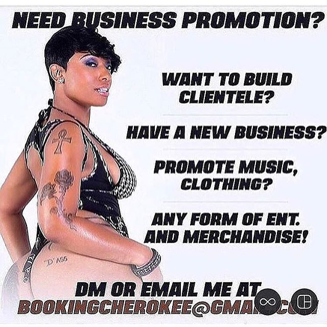 For all promotions for music beats clothing merchandise or any other business please dm or email at bookingcherokee@gmail.com