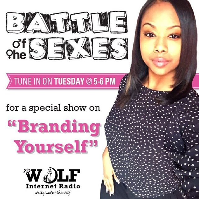 Be sure to listen to the last show of Battle of the Sexes this year!! We will have special guests discussing how to brand yourself. Tomorrow at 5 on thewolfuwg.com 😉✨📻