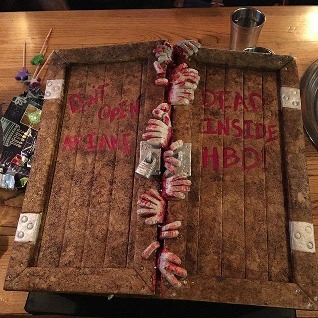 Zombie Birthday Cake #10YearsOld #HappyBirthdayAriane