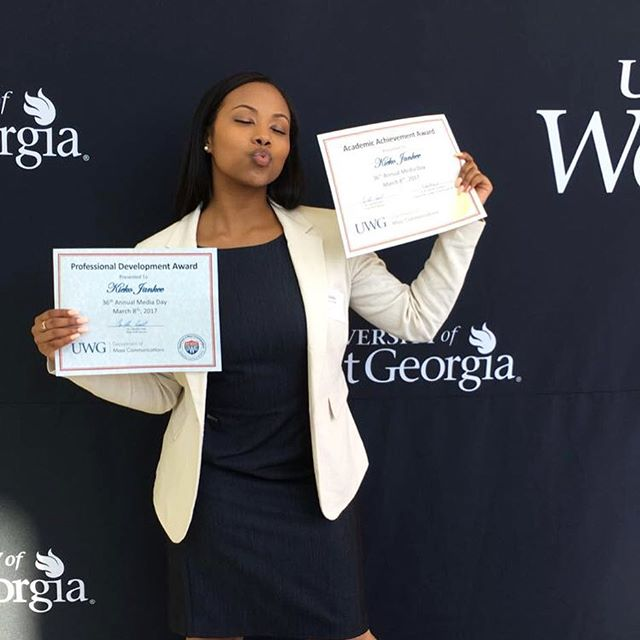 Finished my final Media Day with two awards 💪🏽Professional Development and Academic Achievement. God is great!! 🤗