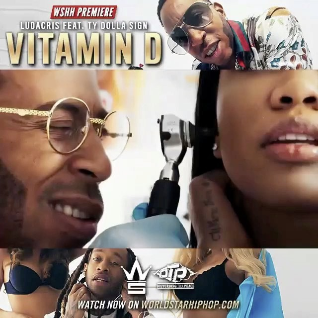 """Check me out in @ludacris new video """"Vitamin D"""" feat. @tydollasign ❤️❤️💙 casted by @sessionizill"""
