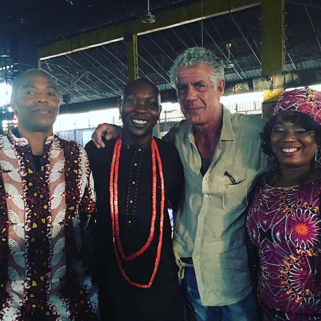 With Femi, Seun and Yeni Kuti in #Lagos