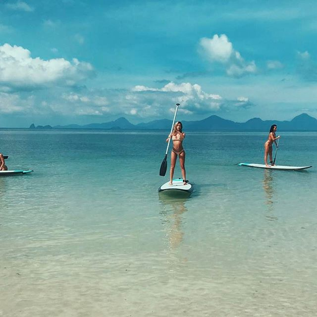 Paddle boarding in the gulf of Thailand 🌴🌏