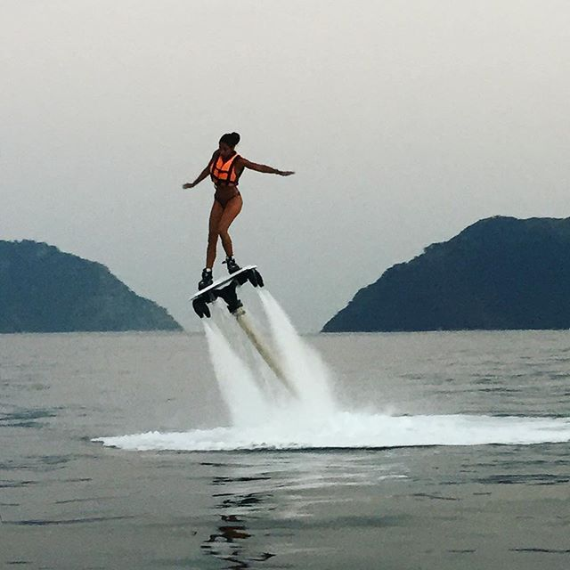 Evening Flyboarding on the riviera 😏 #Marmaris 🇹🇷 || BrieaDior.com