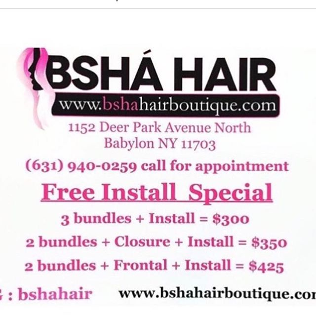 Get Your Free Install Special with @BshaHair don't forget to use promo code :BshaKitty #BshaClassic UsIng only the best RAW Extensions Thank me later 💋