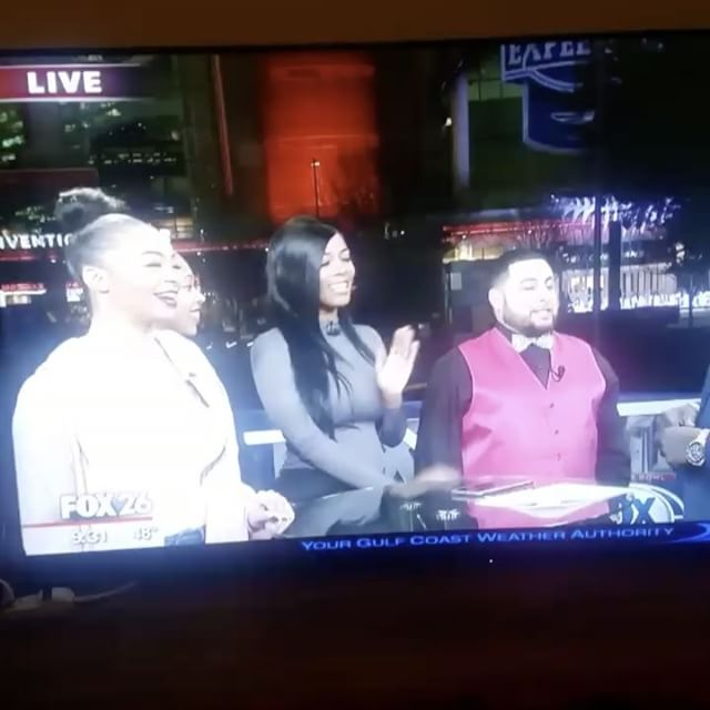 I was on fox 26 news y'all