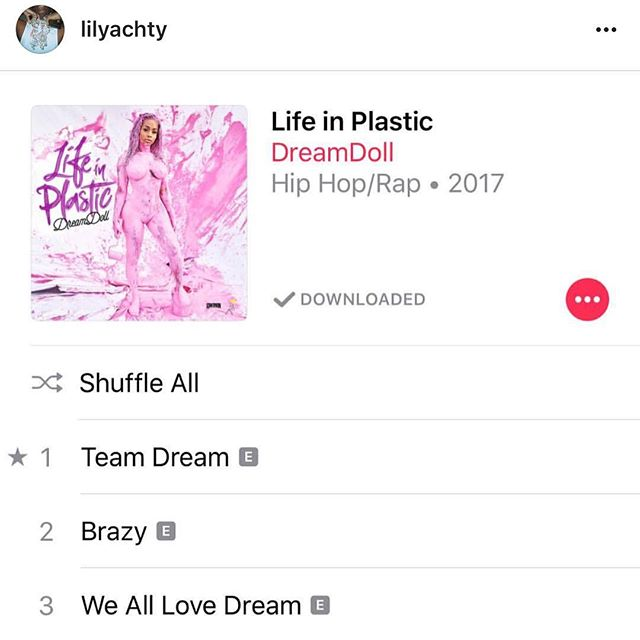 Thank you @lilyachty real 1 💯 #LIFEINPLASTIC