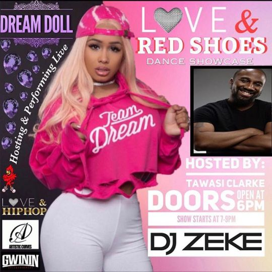 "Tuesday December 12th I'll be performing at CUNY York College for the ""Love & Red Shoes"" Dance Showcase #LifeInPlastic #EverythingNice #TeamDream #GwininEntertainment #ArtisticCurves"