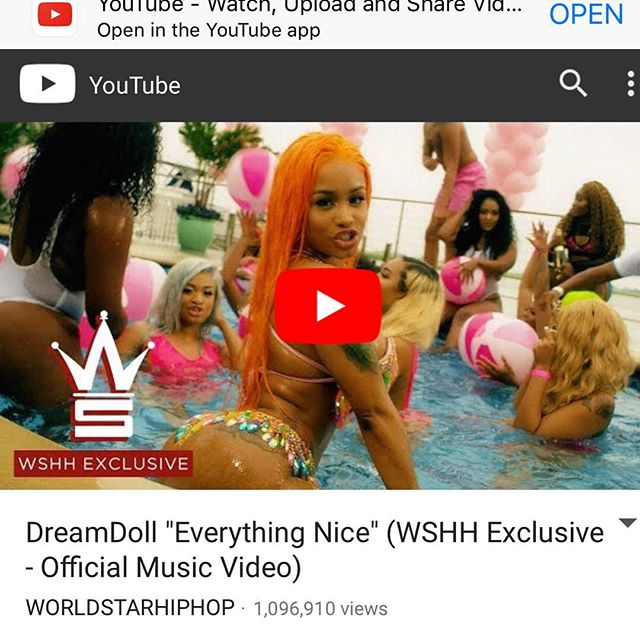 "My first music video ""Everything Nice"" prod by @markmurrille Just hit 1 million views !! @worldstar @shatektheproducer 💪🏼 @dabigpicture #gwinnin #artisticcurves"
